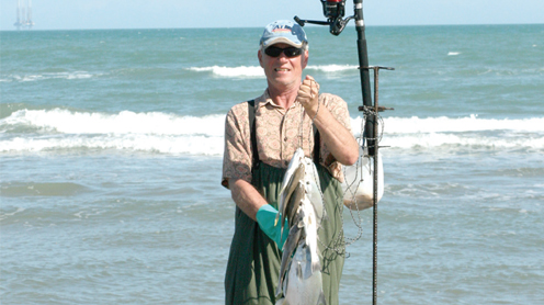 Winter texan enjoys surf fishing port isabel south padre for Port isabel fishing