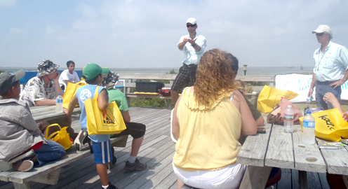 Camp encourages kids to fishport port isabel south padre for Fishing camps for kids
