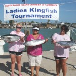 Female anglers show off their catch at this year's Ladies Kingfish Tournament.  (Staff photo by Scarlet O'Rourke)