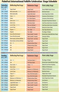 PalmFest schedule