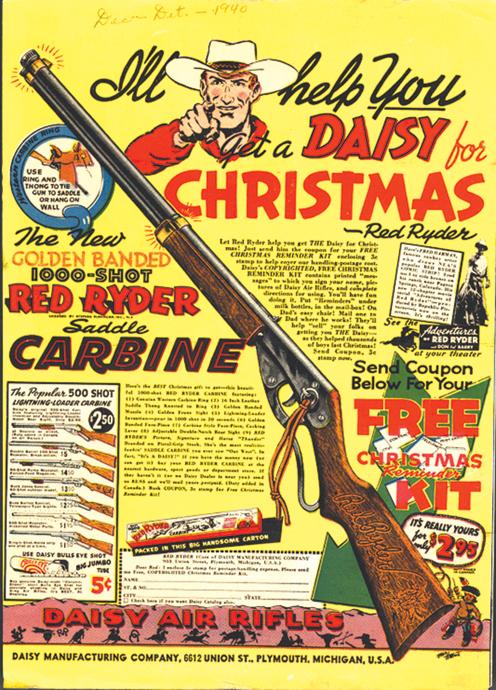 Red Ryder BB Gun ad