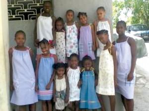 Haitians wear dresses