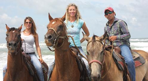 beach horseriders