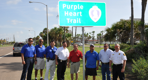 Purple Heart Trail unveiling