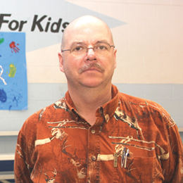 Michael Quist, Chief Professional Officer for the Boys & Girls Club of Laguna Madre, is seen inside the club. (Staff photo by Ray Quiroga)