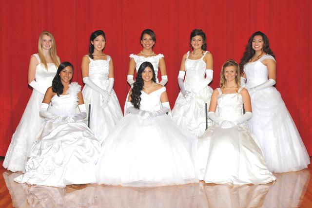 Port Isabel debutantes pictured (front, l-r) are Yitzha Pazos, Taylor Torres, Megan Francis, (back, l-r) Kiersten Stiers, Alana Hernandez, Kaylin Infante, Miranda Vogel and Perla Gonzalez. (Courtesy photo)