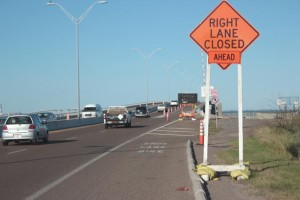 Work conducted on the Queen Isabella Memorial Causeway will end in March. (Staff photo by Craig Alaniz)