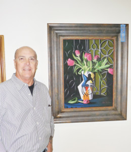 """Bob Franklin won three awards in the pastels category: first place for """"Barcelona Seven"""" and honorable mention for both """"Warming Up"""" and """"San Felipe Del Neri Church."""" (Courtesy photo)"""