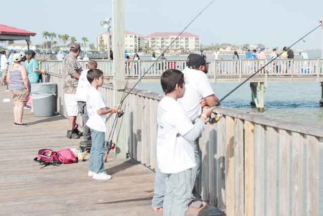 Participants of the Kids Fishing Classic held in Port Isabel on Saturday, April 13, are seen soaking in the festivities. (Staff photos by Craig Alaniz)