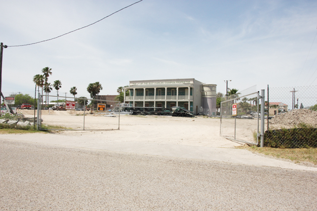 Shown is the site of the future Port Isabel events center, where construction has been delayed. (Staff photo by Ray Quiroga)