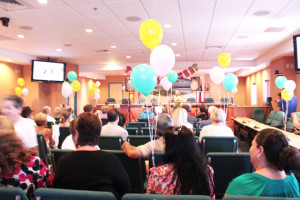 Shown is a scene from the 40th birthday celebration for South Padre Island on Wednesday. (Staff photo by Craig Alaniz)