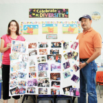 (Staff photo by Ray Quiroga) Juan Baldovinos is shown with his wife Brenda's daughter-in-law, Alicia, who is the wife of Juan and Brenda's eldest child Victor. They're shown at the business Brenda and Juan established before she died in February, Stepping Stones Daycare in Port Isabel.