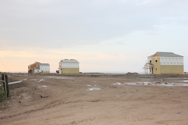 (Staff photos by Ray Quiroga) A storage facility off Hwy. 100 and a new subdivision near Port Isabel High School are signs of development and business growth currently experienced in Port Isabel.