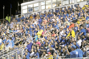 (Staff photo by Ray Quiroga) The Port Isabel Tarpons fans are seen during a recent varsity game. The Tarpons are poised to take on the rival Rio Hondo Bobcats on Friday, Oct. 17.