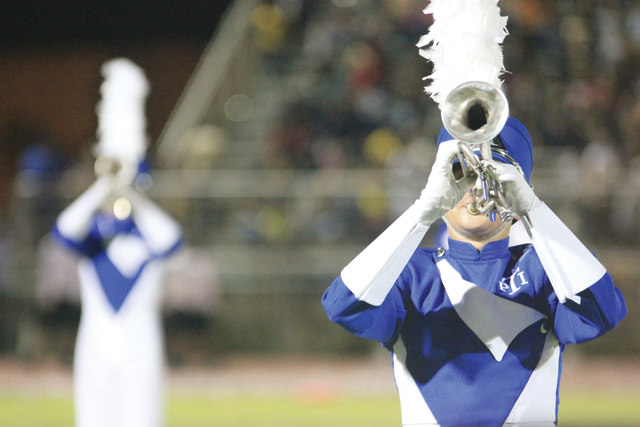 (Staff photo by Ray Quiroga) The Port Isabel Silver Tarpon Band will perform at Area competition in Calallen Saturday.