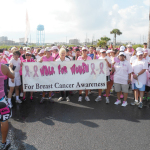 (Photos by Pamela Cody) A scene from this past weekend's 11th annual Walk for Women festivities on South Padre Island is shown.