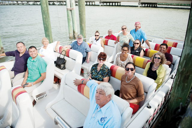 "(Photo courtesy of Valerie Bates) Members of the Port Isabel Chamber of Commerce and tourism assessment team aboard the ""Thriller"" as parts of their Port Isabel tour."