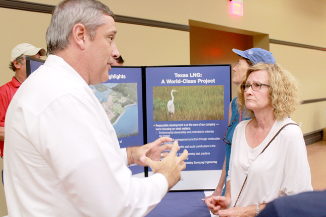 2015-06-05 Mechanical Industrial Engineering Martin Rosetta discusses the Texas LNG propesed project with residents of the Laguna Madre area 2