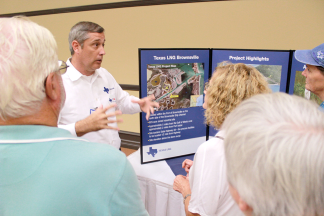 2015-06-05 Mechanical Industrial Engineering Martin Rosetta discusses the Texas LNG propesed project with residents of the Laguna Madre area