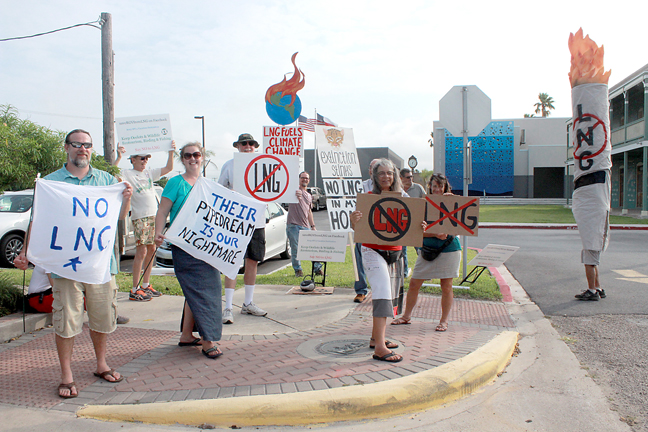 2015-06-05 Members of the Lower Rio Grande Valley Sierra Club orginized a Save RGV from LNG 1