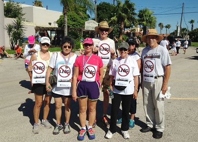 Members of the environmental group, Save RGV from LNG, stand for a photo after participating in the 1st Annual Summer Longest Causeway Run. (Courtesy Photo)
