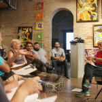 Members of Save RGV from LNG held a meeting at Galleria 409 in Brownsville. (Dina Arévalo | Staff photographer)