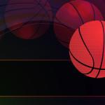 Vector illustration of detailed flying basket ball