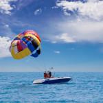 preparing for take-off parasailing