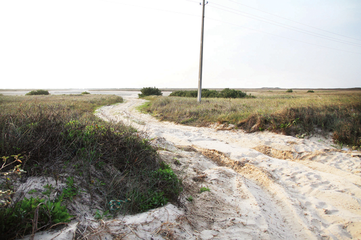 """Shown is the proposed """"landing pad"""" for the Second Causeway on South Padre Island. (Dina Arévalo 
