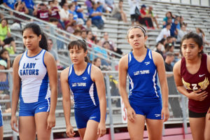 Lady Tarpons Compete at Area Meet