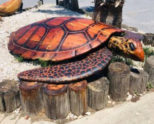World's largest mesquite carved turtle unveiled on SPI