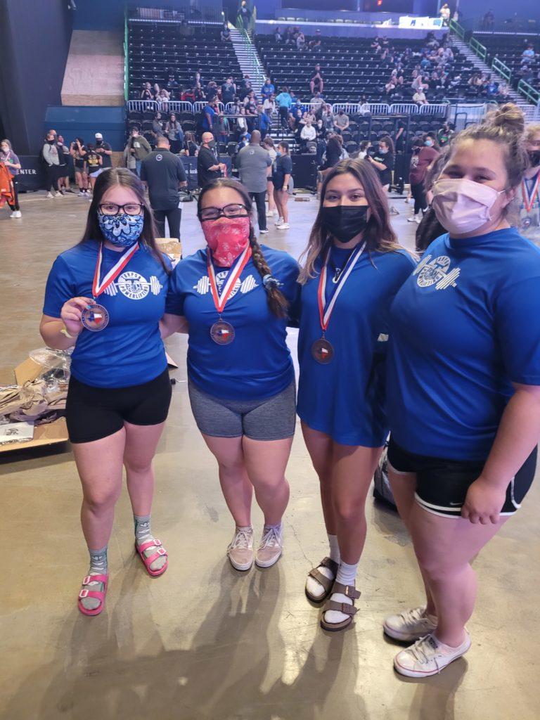 Three Lady Tarpons Medal at State Meet