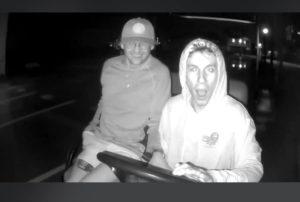 Stolen golf cart returned after suspects go viral